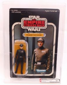Star Wars Vintage Kenner 41 Back Imperial Commander AFA 85 C80 B85 F85 Graded